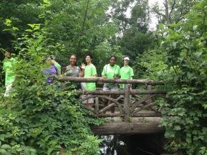 teens in nature
